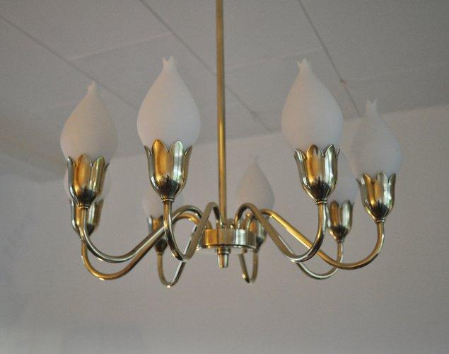 Vintage tulip chandelier by ansgar fog erik mrup for sale at pamono aloadofball Choice Image
