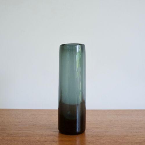 Blue Glass Vase By Per Lutken For Holmegaard 1962 For Sale At Pamono