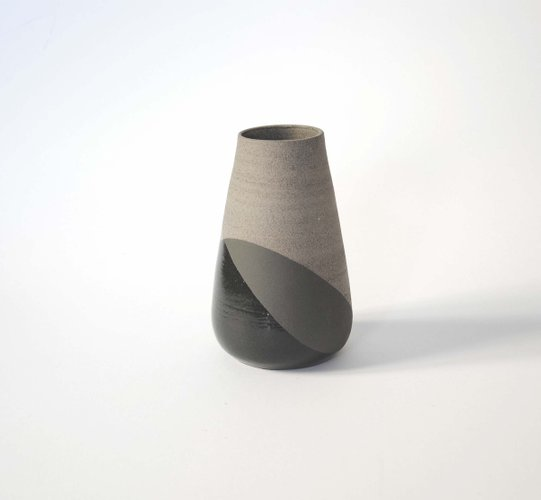 Large Grey Black Shake Vase By Anja Borgersrud For Anbo Design For