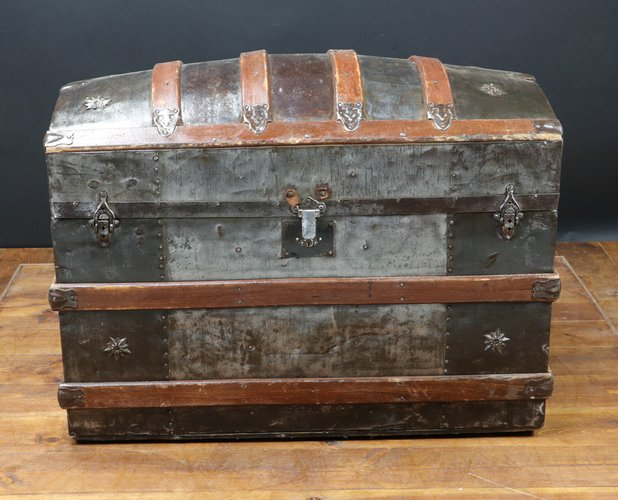Antique American Curved Trunk 1870 For Sale At Pamono
