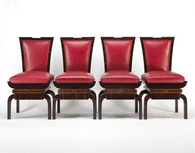 chaises d appoint art deco set de 4 en vente sur pamono. Black Bedroom Furniture Sets. Home Design Ideas