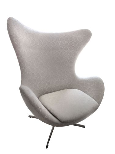 Great Mid Century Danish Egg Chair By Arne Jacobsen For Fritz Hansen For Sale At  Pamono
