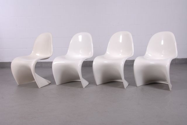 Off White Panton Chairs By Verner Panton For Fehlbaum, 1960s, Set Of 4 For  Sale At Pamono