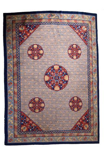 tapis art d co fait main chine 1930s en vente sur pamono. Black Bedroom Furniture Sets. Home Design Ideas