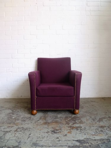 Merveilleux Vintage Purple Armchair For Sale At Pamono