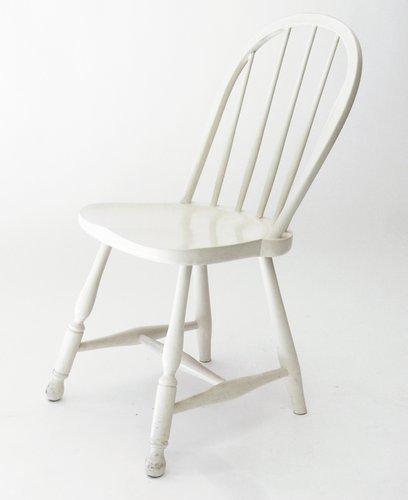 Sterreichischer wei er vintage stuhl mit holzsprossen von for Stuhl designklassiker vintage