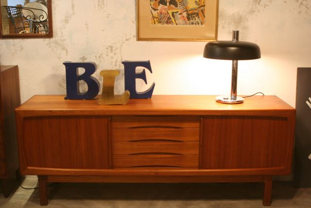 Mid Century Teak Sideboard From H P Hansen For Sale At Pamono