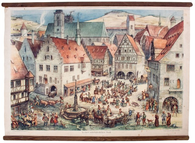телефоне картинки средневековый город и его жители привлекательная