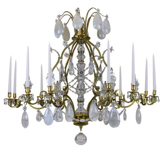 Large Antique Louis XIV Gilt Bronze & Rock Crystal Chandelier for sale at  Pamono - Large Antique Louis XIV Gilt Bronze & Rock Crystal Chandelier For