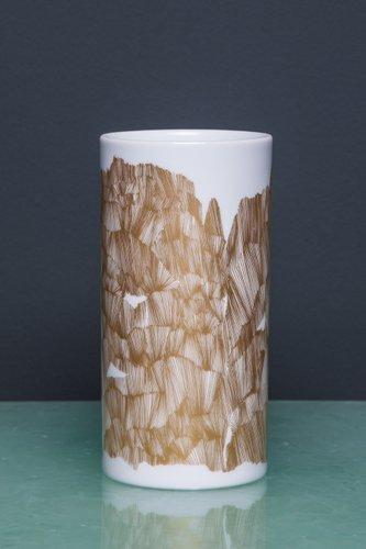 Vintage Gold And White Vase From Rosenthal For Sale At Pamono