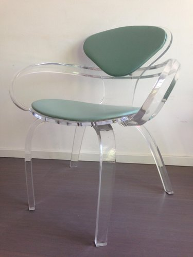 Vintage Thick Clear Acrylic Armchair