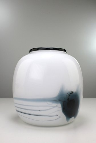 Danish Art Glass Atlantis Vase By Michael Bang For Holmegaard 1981