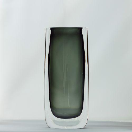 Vintage Sommerso Glass Vase By Nils Landberg For Orrefors 1960s For