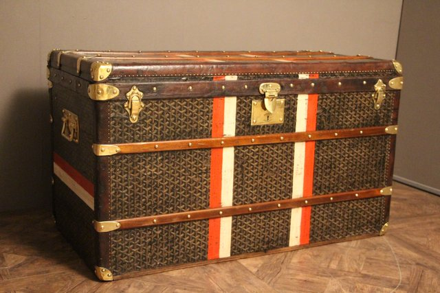 vintage berseekoffer von goyard bei pamono kaufen. Black Bedroom Furniture Sets. Home Design Ideas