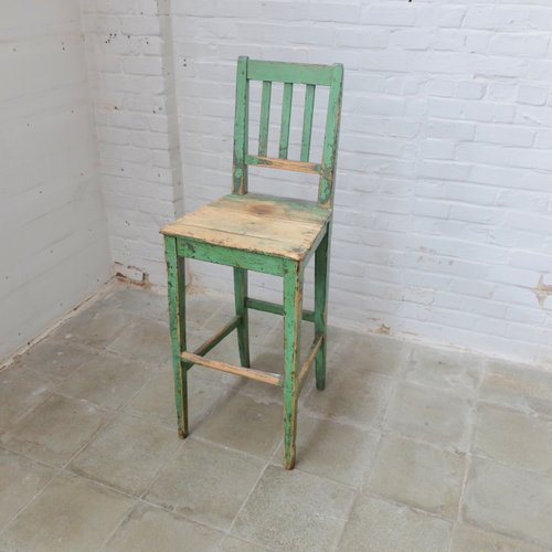 Vintage Holz Fabrik Stuhl Bei Pamono Kaufen