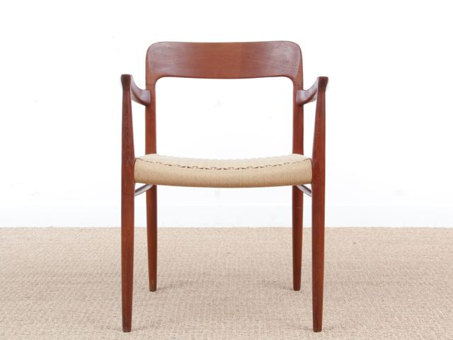 Mid Century Scandinavian 56 Armchair In Teak By N O