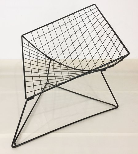 Superbe Model Oti Wire Mesh Chair By Jørgen Gammelgaard For Ikea, 1986