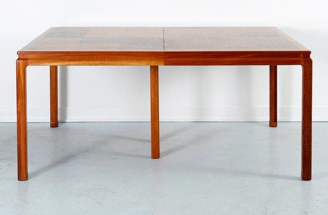 cork esstisch von edward wormley f r dunbar 1960er bei pamono kaufen. Black Bedroom Furniture Sets. Home Design Ideas