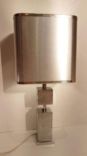 lampe de bureau en chrome et aluminium bross 1970s en vente sur pamono. Black Bedroom Furniture Sets. Home Design Ideas