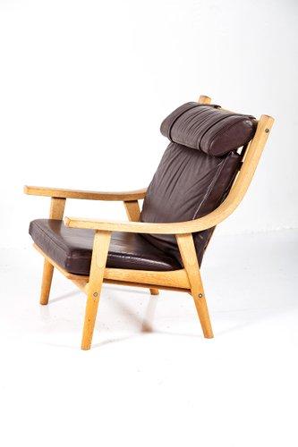 Vintage GE 530 Highback Chair by Hans J. Wegner for Getama