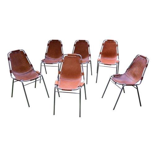 chaises les arcs vintage par charlotte perriand set de 6 en vente sur pamono. Black Bedroom Furniture Sets. Home Design Ideas