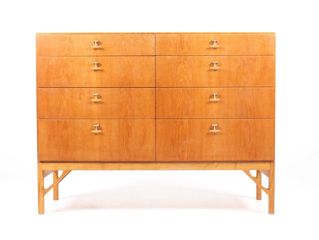Danish Oak Chest Of Drawers By Borge Mogensen For Fdb 1950s For