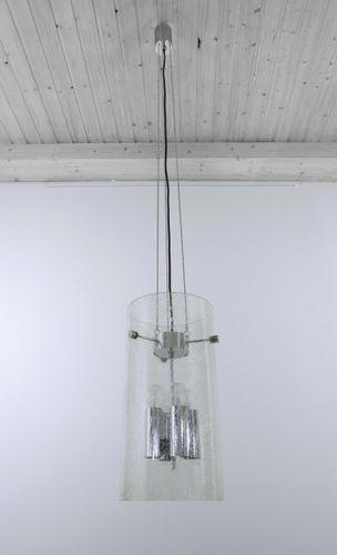 deutsche glas deckenlampe von glash tte limburg 1970er. Black Bedroom Furniture Sets. Home Design Ideas