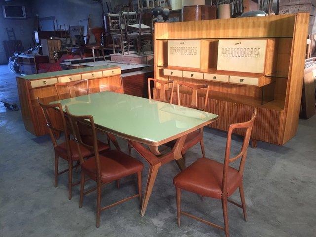 Mobili Anni 40 : Set da pranzo di gio ponti per la permanente mobili cantu italia