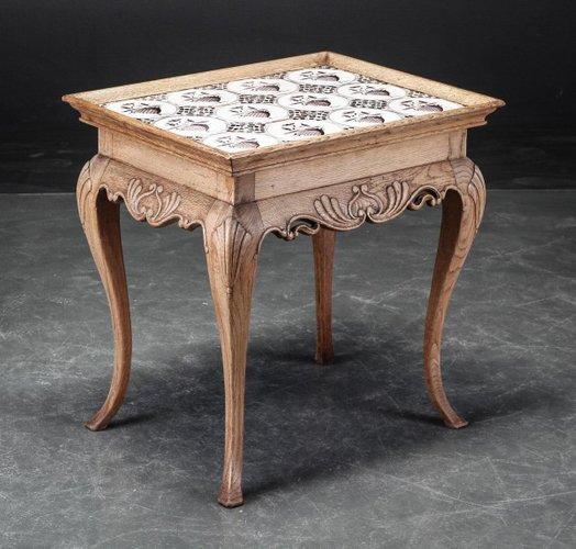 Antiker Manganese Fliesen Tisch 1800 Bei Pamono Kaufen