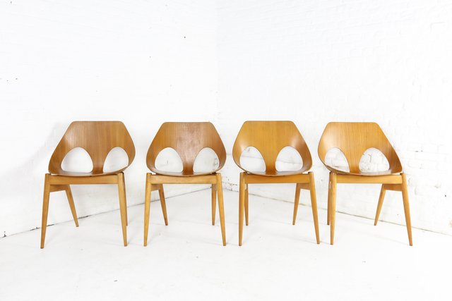 Modernist Plywood C2 Jason Chairs By Carl Jacobs For Kandya 1955
