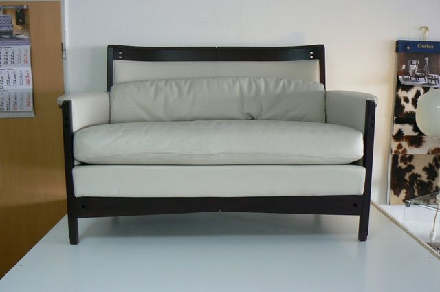 design sofa moderne sitzmobel italien, italian 2-seater leather sofa by umberto asnago for giorgetti, 1980s, Design ideen