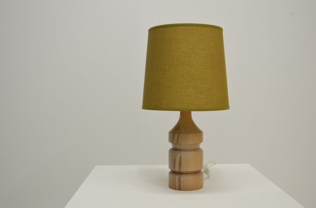 Vintage Swedish Pine Table Lamp by Erik Höglund for Boda Trä, 1960s