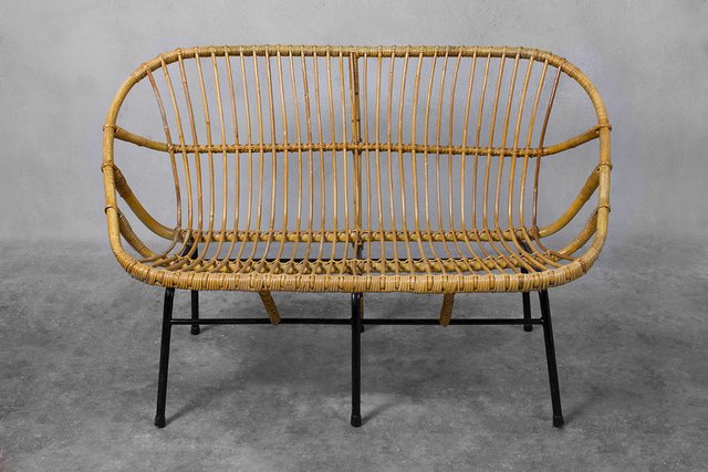 Wicker Sofa For Rohé Noordwolde 1950s For Sale At Pamono