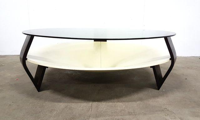 space age couchtisch aus schichtholz rauchglas bei pamono kaufen. Black Bedroom Furniture Sets. Home Design Ideas