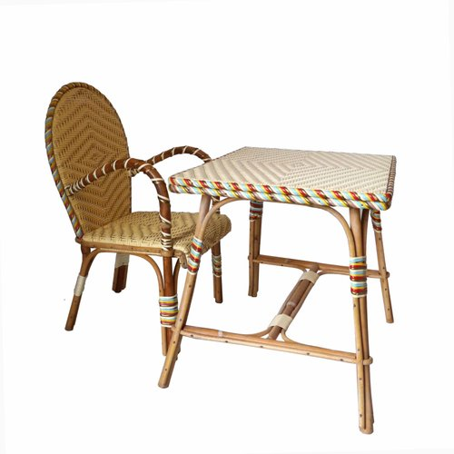 Fine Vintage French Rattan Childrens Desk And Chair Gmtry Best Dining Table And Chair Ideas Images Gmtryco