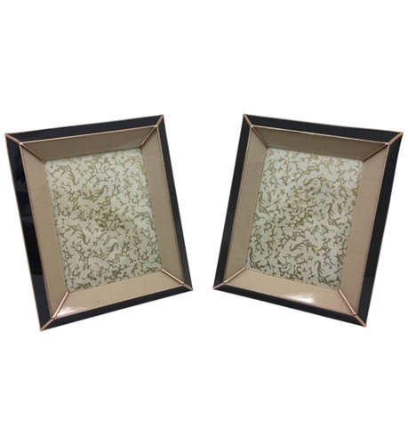 Art Deco Italian Glass Picture Frames 1930s Set Of 2 For Sale At