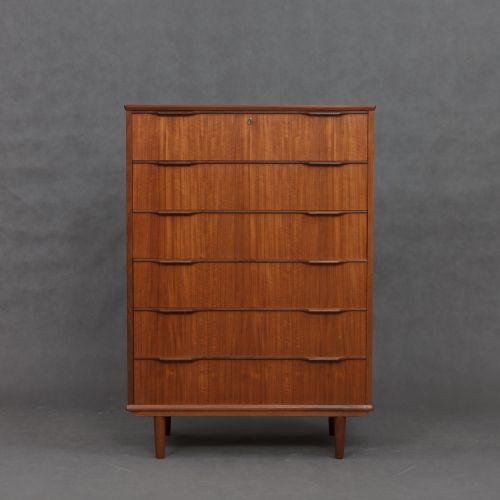 d nische vintage teak furnier kommode 1960er bei pamono. Black Bedroom Furniture Sets. Home Design Ideas