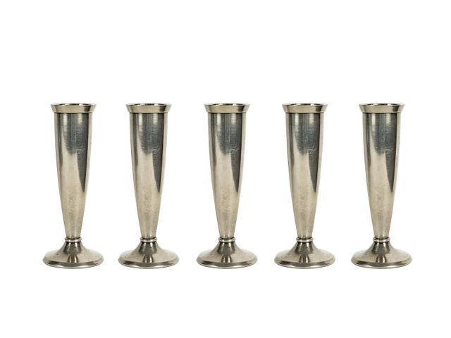 Small Silver Plated Flower Vases By Gio Ponti For Krupp 1930s Set