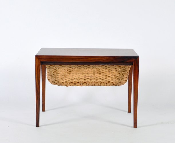 Vintage Danish Teak Sewing Table By Severin Hansen For
