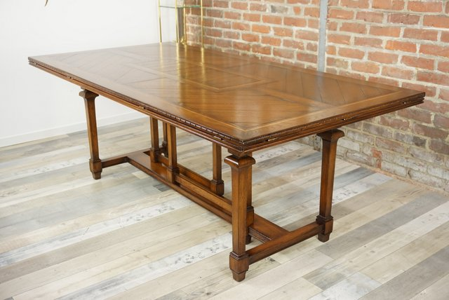 vintage wooden marquetry modular dining table for sale at pamono - Modular Dining Room