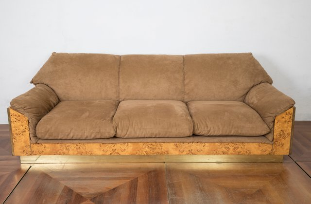 Thuja Burl And Suede Sofa By