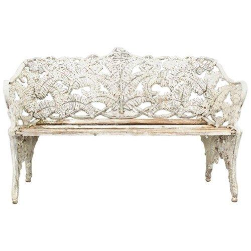 Strange Art Nouveau White Iron Bench Theyellowbook Wood Chair Design Ideas Theyellowbookinfo