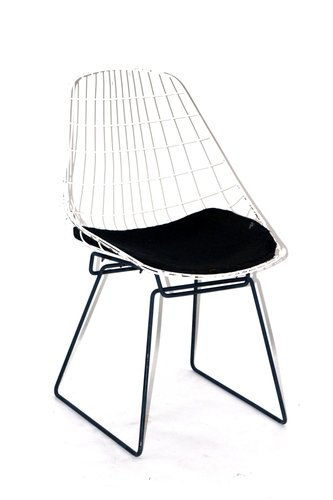 Mid Century Wire Chair By Cees Braakman For Pastoe For Sale At Pamono