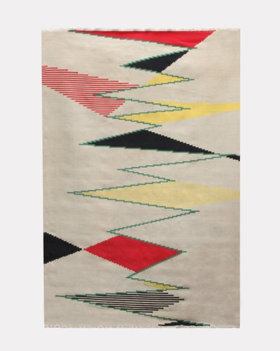 Large Czech Modernist Rug By Antonin Kybal 1950s