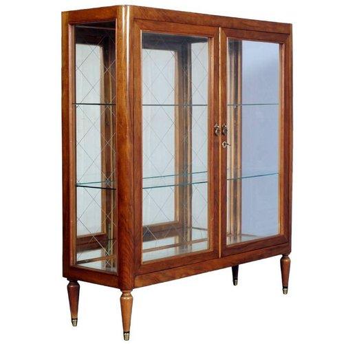 Mid Century Modern Cherrywood Display, Modern Display Cabinet