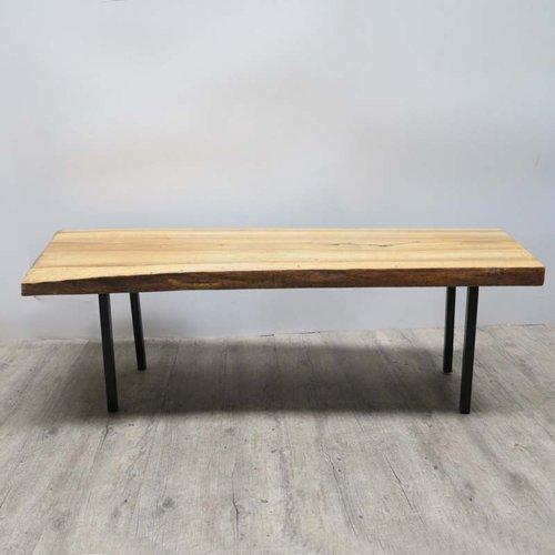 Vintage Baumstamm Tisch Auf Metallbeinen Bei Pamono Kaufen