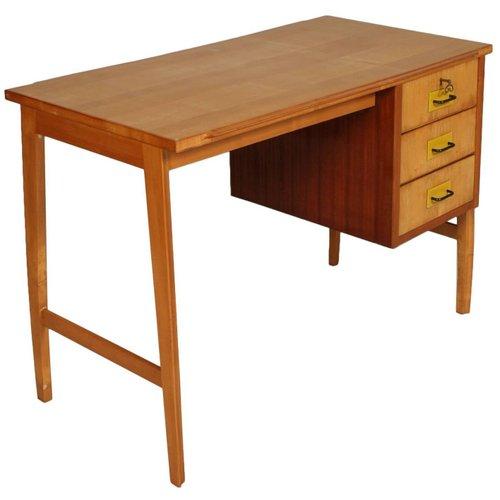 Mid Century Modern Desk In Beech Maple
