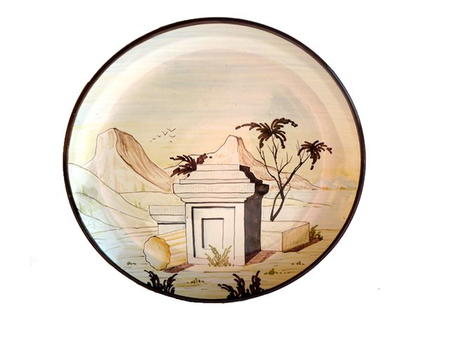 50c87ef3f2 Vintage Majolica Plate by Christian Dior for Eugenio Taccini for sale at  Pamono