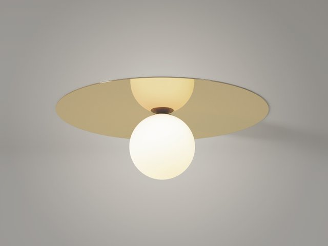 Plate And Sphere Ceiling Wall Lamp By Atelier Areti For Sale At Pamono