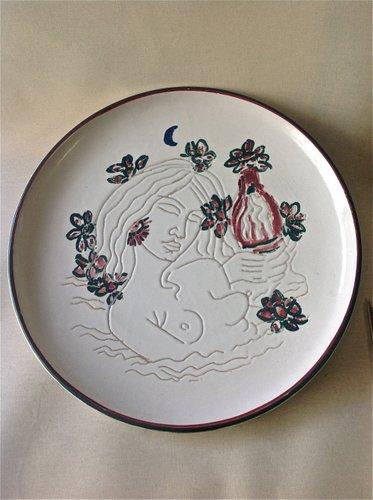 Decorative Ceramic Plate by Tono Zancanaro for Castelli 1973 for sale at Pamono & Decorative Ceramic Plate by Tono Zancanaro for Castelli 1973 for ...